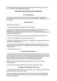 Satzung für die Erhebung der Hundesteuer