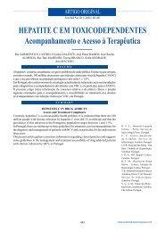 Hepatite C em toxiCodependentes acompanhamento e acesso à ...