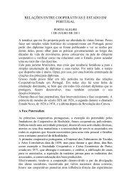 relações entre cooperativas e estado em portugal - cases