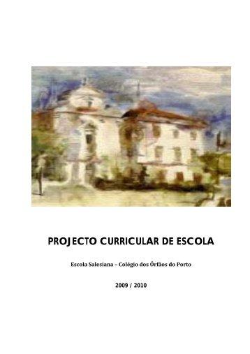 PROJECTO CURRICULAR DE ESCOLA - Colégio Salesianos Porto