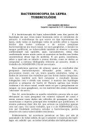 BACTERIOSCOPIA DA LEPRA TUBERCULÓIDE