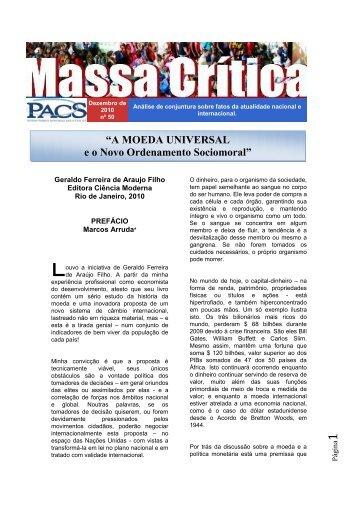 A Moeda Universal e o Novo Ordenamento Sociomoral - PACS