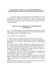 REGIMENTO INTERNO DO CONSELHO SUPERIOR ... - Procempa