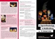 3. Figurentheatertage in Waldkraiburg 3. – 6. Januar 2013 - Stadt ...