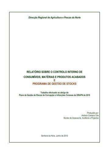 Relatório Controlo Interno - Direcção Regional de Agricultura e ...
