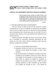 CAPÍTULO I: DO CONHECIMENTO CIENTÍFICO E PESQUISA ... - UFF