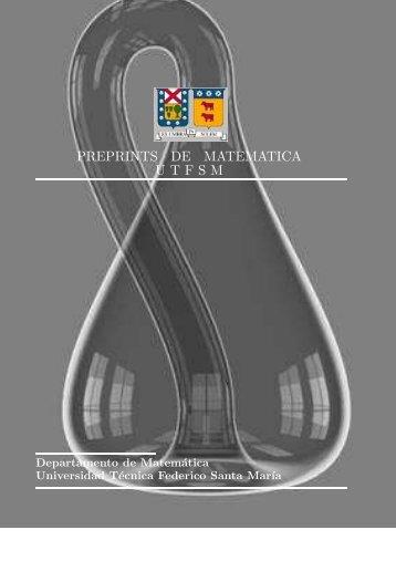 preprints de matematica utfsm - Departamento de Matemáticas