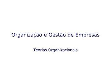 Organização e Gestão de Empresas - marketing, publicidade e ...
