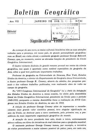 Boletim Geográfico - Biblioteca