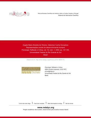 Redalyc.Representações sociais do desenvolvimento humano