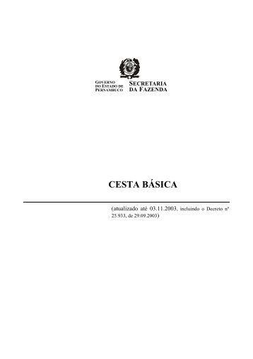 CESTA BÁSICA - Sefaz PE