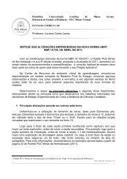 Anexo ao Modelo do Relatorio PA ESTAGIO PMV ... - PUC Minas