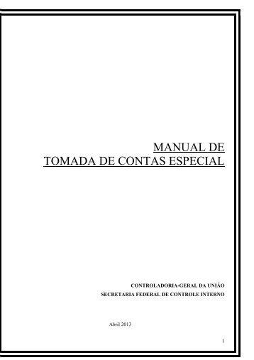 Manual de Instruções sobre Tomada de Contas Especial