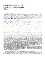 GUIA PRÁTICO - AMPUTAÇÃO MEMBRO SUPERIOR / INFERIOR