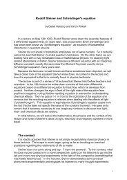 Rudolf Steiner and Schrödinger's equation - Waldorf.net