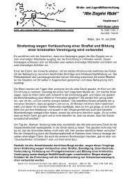 Strafantrag wegen Vortäuschung einer Straftat und ... - Waldorf.net