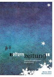 Elternzeitung Ausgabe 3-2005 - Integrativer Waldorfkindergarten