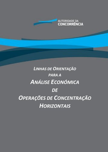 análise económica de operações de concentração horizontais