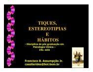 TIQUES, ESTEREOTIPIAS E HÁBITOS - Psiquiatria Infantil.com.br