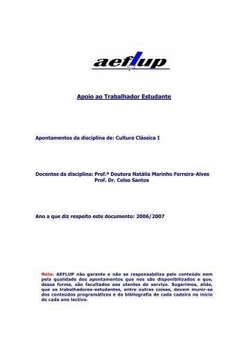Cultura Clássica I - aeflup.com
