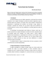 Teoria Geral dos Contratos - Direito Brasil