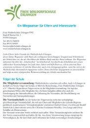 Ein Wegweiser für Eltern und Interessierte - Freie Waldorfschule ...