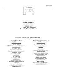 Páginas iniciais - Revista de Letras