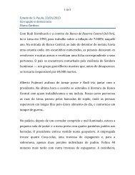Estado de S. Paulo, 23/01/2013 Corrupção e ... - Eliana Cardoso