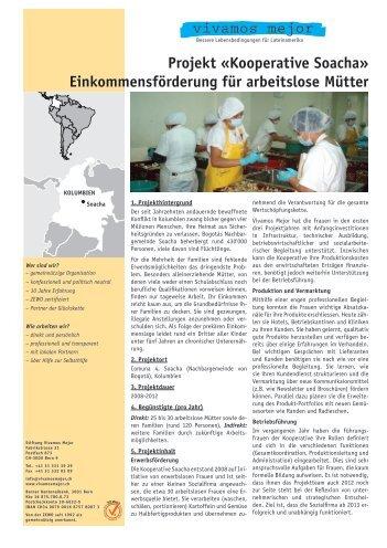 Projekt «Kooperative Soacha ... - Vivamos Mejor