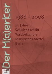 Herbst 2008 - Waldorfschule Märkisches Viertel