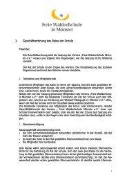 1. Geschäftsordnung des Rates der Schule - Freie Waldorfschule in ...