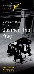 Guarneri Trio Prag - Freie Waldorfschule Ulm Römerstraße