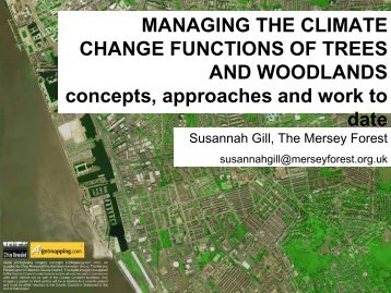 MANAGING THE CLIMATE CHANGE FUNCTIONS OF TREES AND ...
