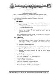 Anexo I - METAS E AÇÕES DO DESENVOLVIMENTO SUSTENTÁVEL