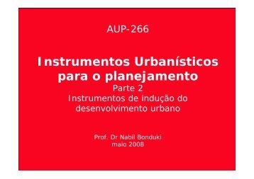Instrumentos Urbnanísticos - Parte 2.pdf - USP