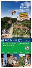 Jahresprogramm - Waldsassen