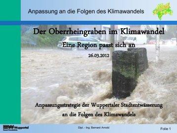 Anpassungsstrategie der Wuppertaler Stadtentwässerung an die ...