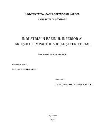 rezumat - Institutul de Studii Doctorale