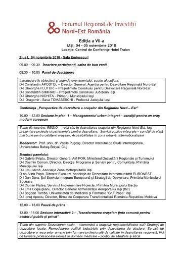 Ediţia a VII-a - Agentia pentru Dezvoltare Regionala Nord-Est
