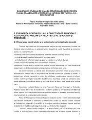 Cap. 2 - Ministerul Dezvoltării Regionale şi Turismului