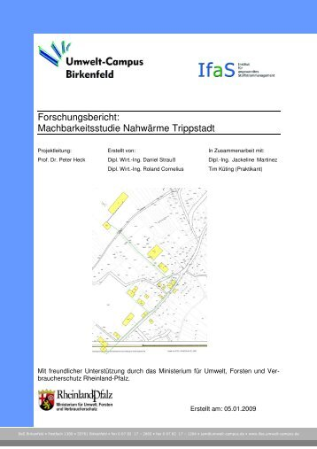 Machbarkeitsstudie Nahwärme Trippstadt - Landesforsten ...