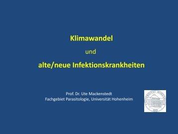Klimawandel und alte/neue Infektionserkrankungen