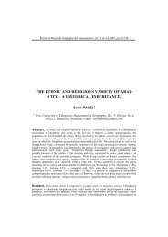 paper in English - Departamentul de Geografie