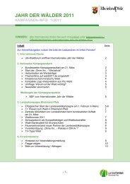 Vierter Newsletter (1/2011) - Landesforsten Rheinland-Pfalz