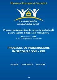 procesul de modernizare în secolele xvii - Facultatea de Istorie şi ...