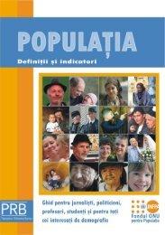 Populaţia. Definiţii şi indicatori - Departamentul de Geografie