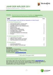 Dritter Newsletter (3/2010) - Landesforsten Rheinland-Pfalz
