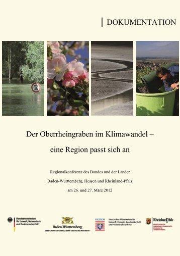 DOKUMENTATION Der Oberrheingraben im Klimawandel – eine ...