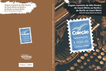 Viagem-memória de Nilo Pereira - cchla - Universidade Federal do ...