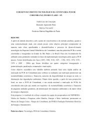 O desenvolvimento tecnológico da centenária PCH de ... - CERPCH